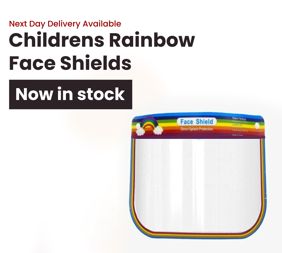 Childrens Rainbow Face Shields